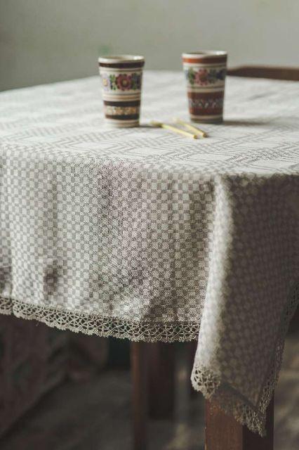 Cotton linen tablecloths - namutekstile lt