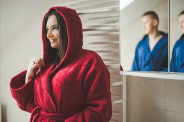 Петельные банные халаты